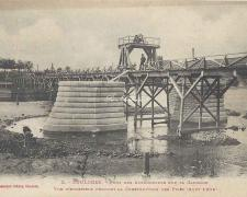 2 - Vue d'ensemble pendant la construction des piles (Août 1904)