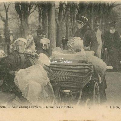 20 - Aux Champs-Elysées - Nourrices et Bébés