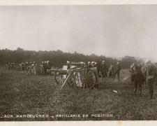 20 - Aux Manoeuvres - Artillerie en position