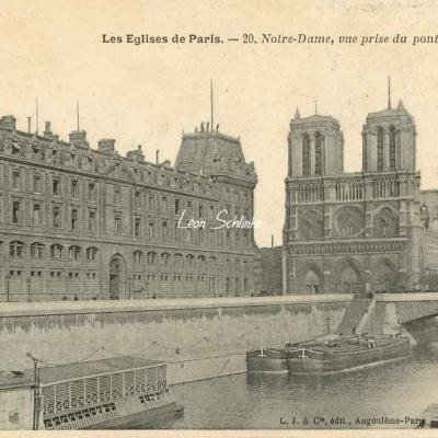20 - Notre-Dame, vue prise du pont St-Michel