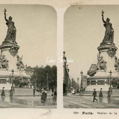 208 - Paris - Statue de la Place de la République