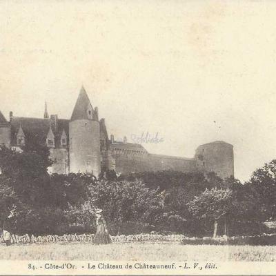 21-Châteaneuf-en-Auxois - 84 - Le Château (L.V. edit)