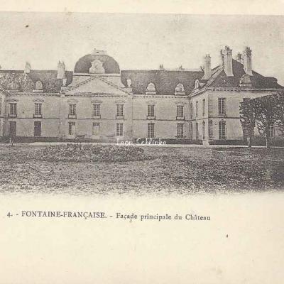 21-Fontaine-Française - Façade du Château (F.Rougetet 4)