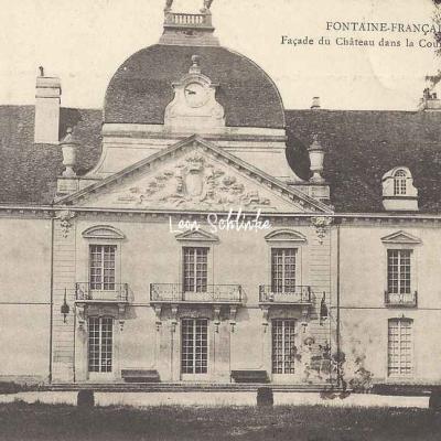 21-Fontaine-Française - Façade du Château (L.Simonet à Champlitte)