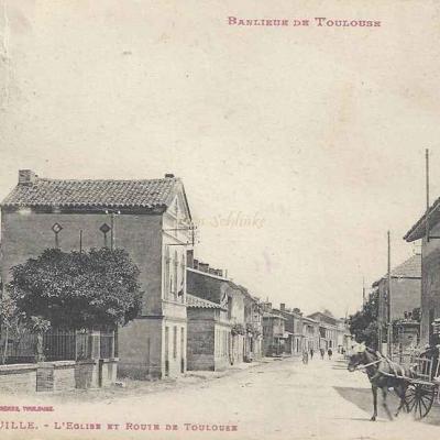 21 - Tournefeuille - L'Eglise et Route de Toulouse