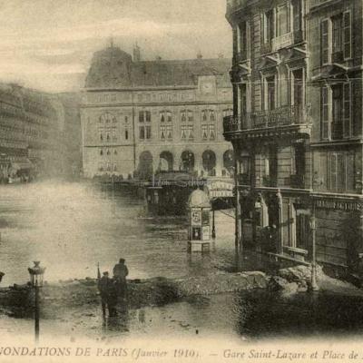 218 - Gare Saint-Lazare et Place de Rome