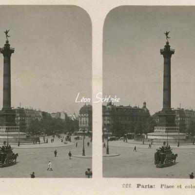 222 - Paris - Place et colonne de la Bastille