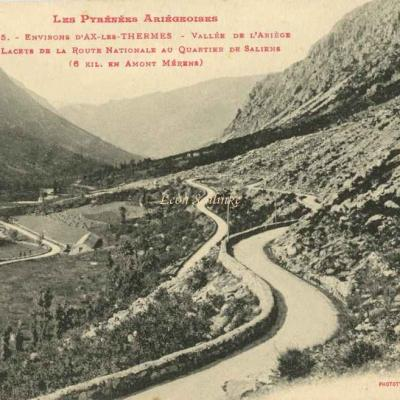 235 - Environs d'Ax-les Thermes - L'Ariège au Quartier de Saliens