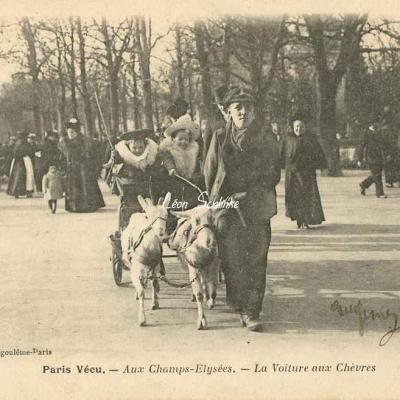 24 - Aux Champs-Elysées - La voiture aux chèvres