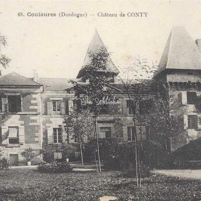 24-Coulaures - 49 - Château de Conty (Ss edit)