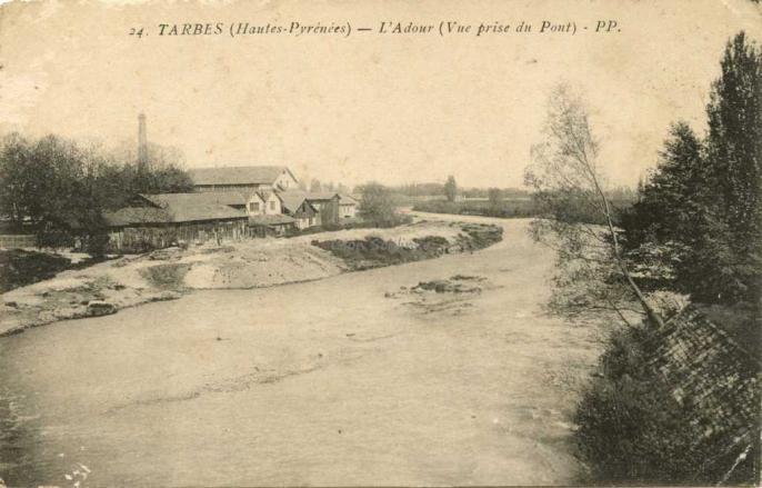 24 - L'Adour (Vue prise du Pont)