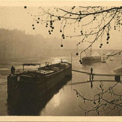 25 - Chalands sur la Seine