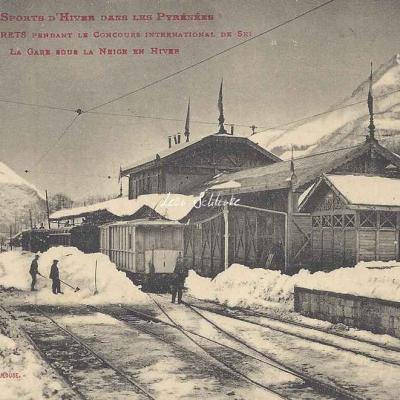 26 - La Gare sous la neige en hiver