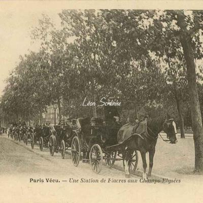 27 - Une Station de Fiacres aux Champs-Elysées
