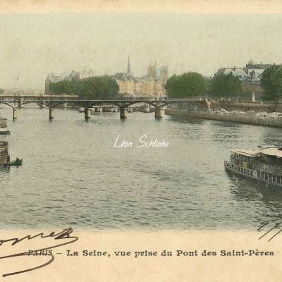 29 - La Seine, vue prise du Pont des Saint-Pères (1)