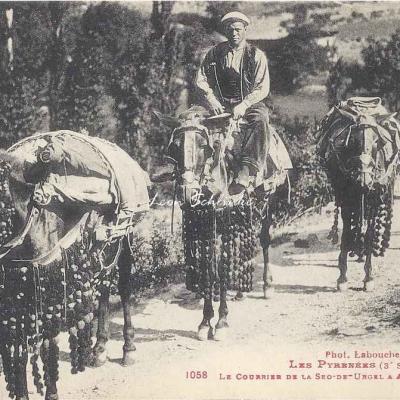 3 - 1058 - Le courrier de la Seo-de-Urgel à Andorra la Vieilla
