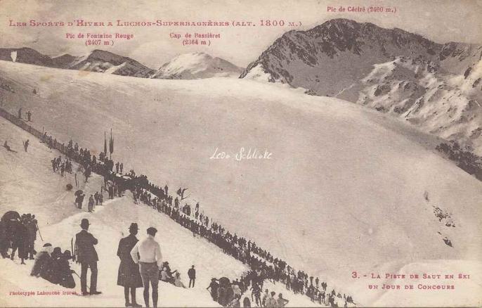 3 - La piste de saut en ski un jour de Concours