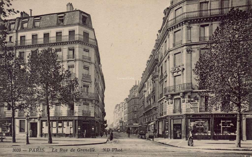 ND 3039 - PARIS - La Rue de Grenelle