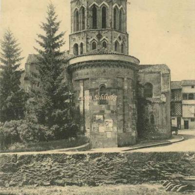 31 - St-Lizier - Abside de l'Eglise du XIII° siècle