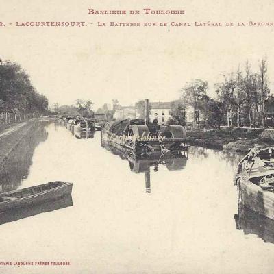 32 - Lacourtensourt - La Batterie sur le Canal latéral de la Garonne