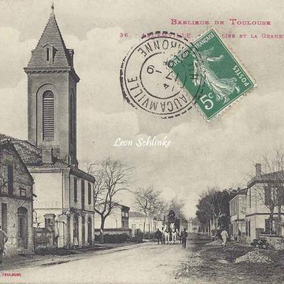 36 - Aucamville - L'église et la grande route