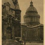 39 - Entrée latérale de l'Eglise St-Etienne-du-Mont et Dôme du Panthéon