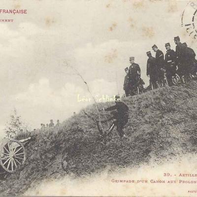 39 - Grimpage d'un Canon aux Prolonges, avec Attelages
