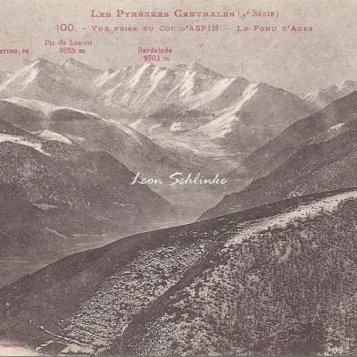 4 - 100 - Vue prise du Col d'Aspin - Le Fond d'Aure