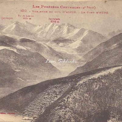 4 - 100 - Vue prise du Col d'Aspin, le Fond d'Aure