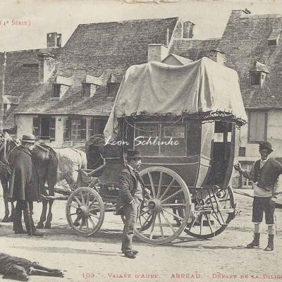 4 - 103 - Vallée d'Aure - Arreau - Départ de la Diligence