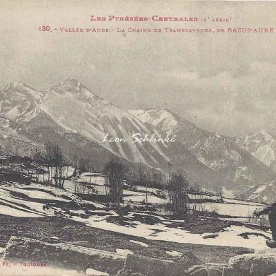 4 - 130 - Vallée d'Aure, chaine de Tramezaygues à Bazus-Aure
