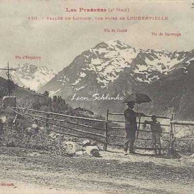 4 - 180 - Vallée du Louron, vue prise de Loudenvielle