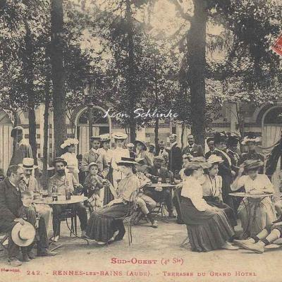 4 - 242 - Rennes-les-Bains - Terrasse du Grand Hôtel