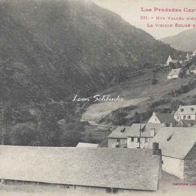 4 - 251 - Hte Vallée d'Aure - Fabian, vieille église et village