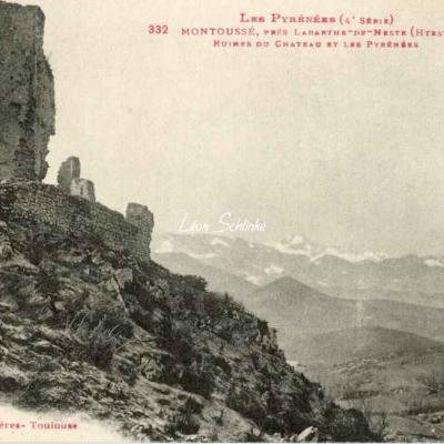 4 - 332 - Montoussé - Ruines du Château