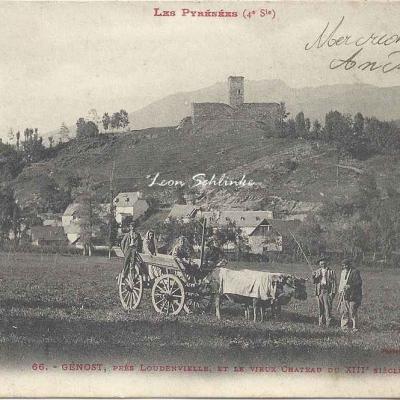 4 - 66 - Génost près Loudenvielle et Vieux Château du XIII°