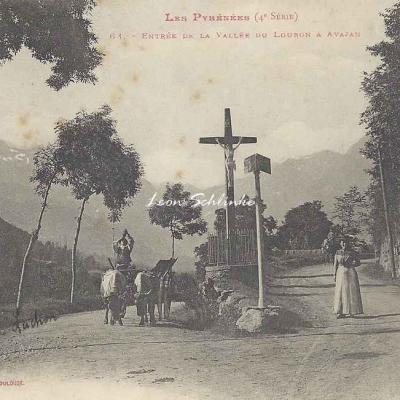4 - 68 - Entrée de la Vallée du Louron à Avajan