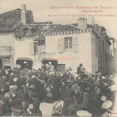 4 - Marché de Puy-Laroque - Achat des Tresses par les Fabricants