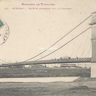 40 - Blagnac - Le pont suspendu sur la Garonne