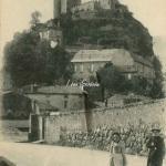 40 - Les Tours de Foix vues de la Route de St-Girons