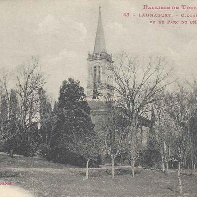 43 - Launaguet - Clocher de l'Eglise vu du Parc du Château