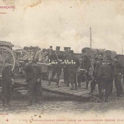 44 - Exercice d'embarquement d'Artillerie de Campagne en pleine voie
