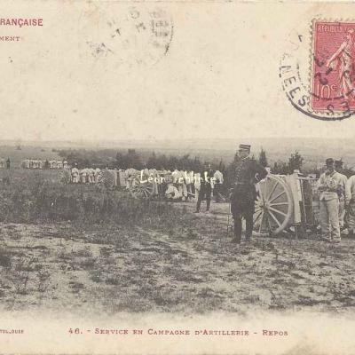 46 - Service en Campagne d'Artillerie - Repos