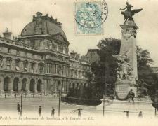 47 - PARIS - Le Monument de Gambetta et le Louvre