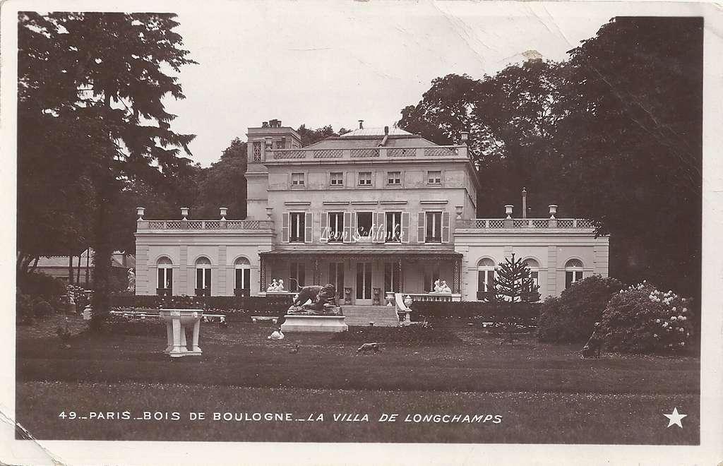 49 - Bois de Boulogne  - La Villa de Lonchamps
