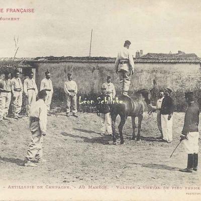 5 - Au Manège - Voltige à Cheval de Pied ferme