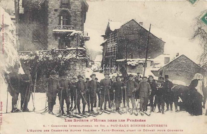5 - L'équipe des chasseurs alpins Italiens à Eaux-Bonnes pour Gourette