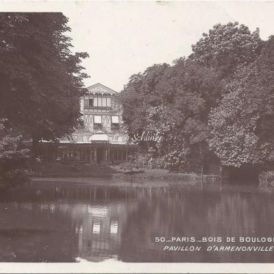 50 - Bois de Boulogne - Pavillon d'Armenonville