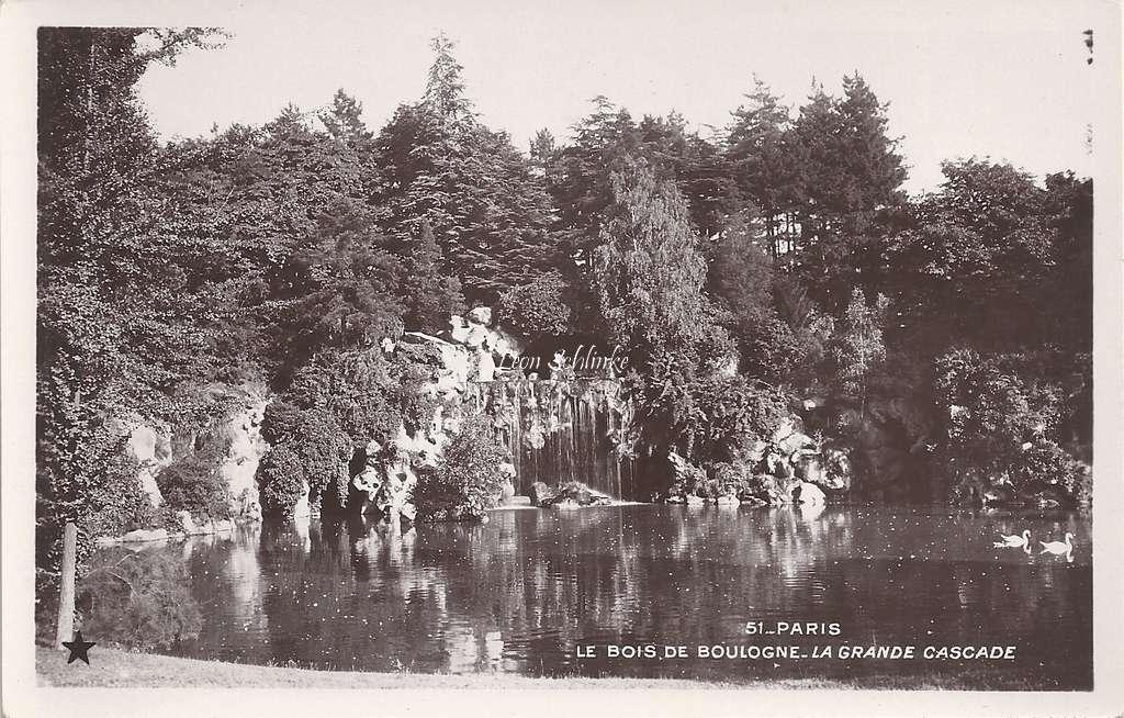 51 - Le Bois de Boulogne - La Grande Cascade