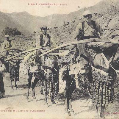 6 - 547 - Types de Muletiers d'Andorre